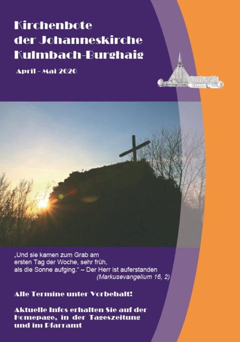 Kirchenbote April/Mai 2020